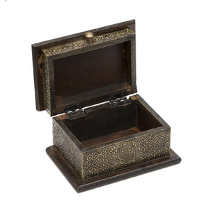 Global Crafts - Antiqued Metal Henna Box - Matr Boomie (B)