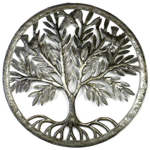 Global Crafts - Tree of Life in Ring Wall Art - Croix des Bouquets