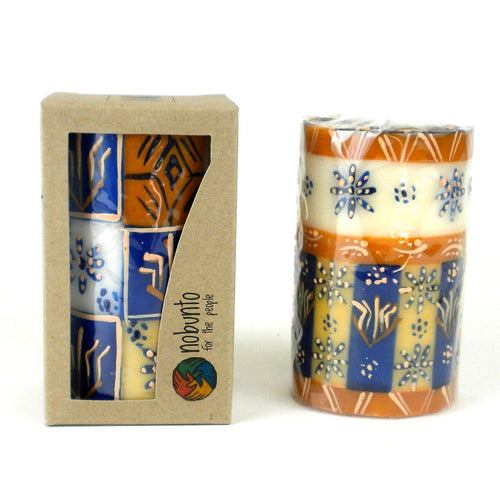 Global Crafts - Hand Painted Candle - Single in Box - Durra Design - Nobunto