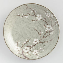 Load image into Gallery viewer, Taupe Porcelain Sakura Salad Plates Set of 4