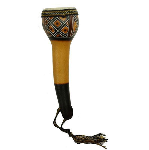 Global Crafts - Leather Top Gourd Shaker - Jamtown World Instruments