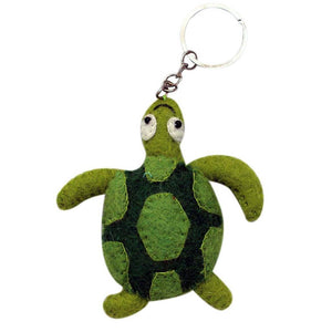 Global Crafts - Felt Turtle Key Chain - Global Groove (A)
