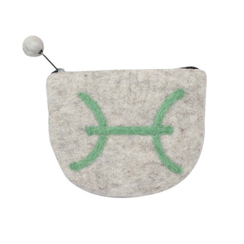 Global Crafts - Felt Pisces Zodiac Coin Purse - Global Groove