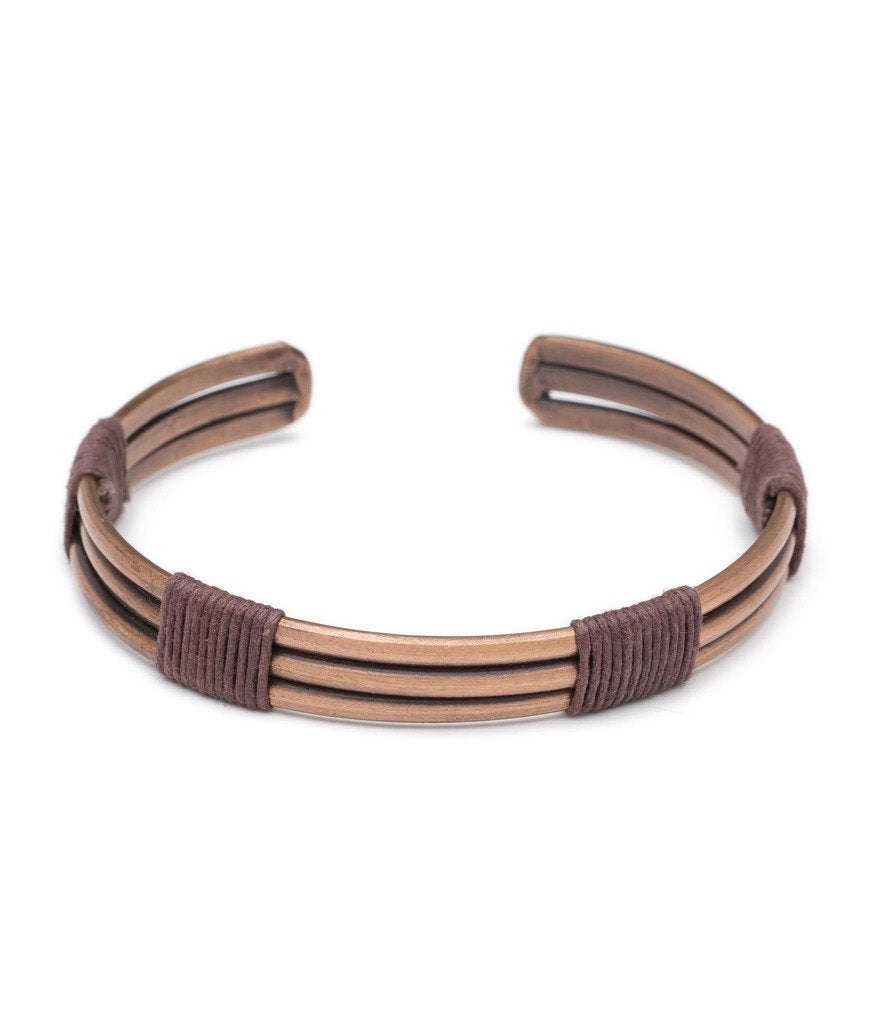 Global Crafts - Men's Arjun Cuff - Copper - Matr Boomie (Jewelry)