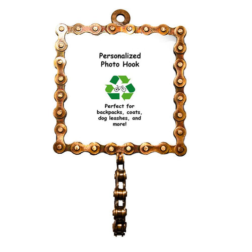 Global Crafts - Square Bicycle Chain Picture Frame Hook - Mira (P)