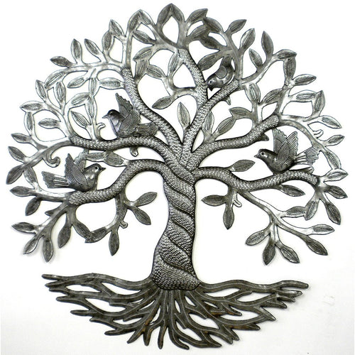 Global Crafts - Twisted Tree of Life Metal Wall Art - Croix des Bouquets