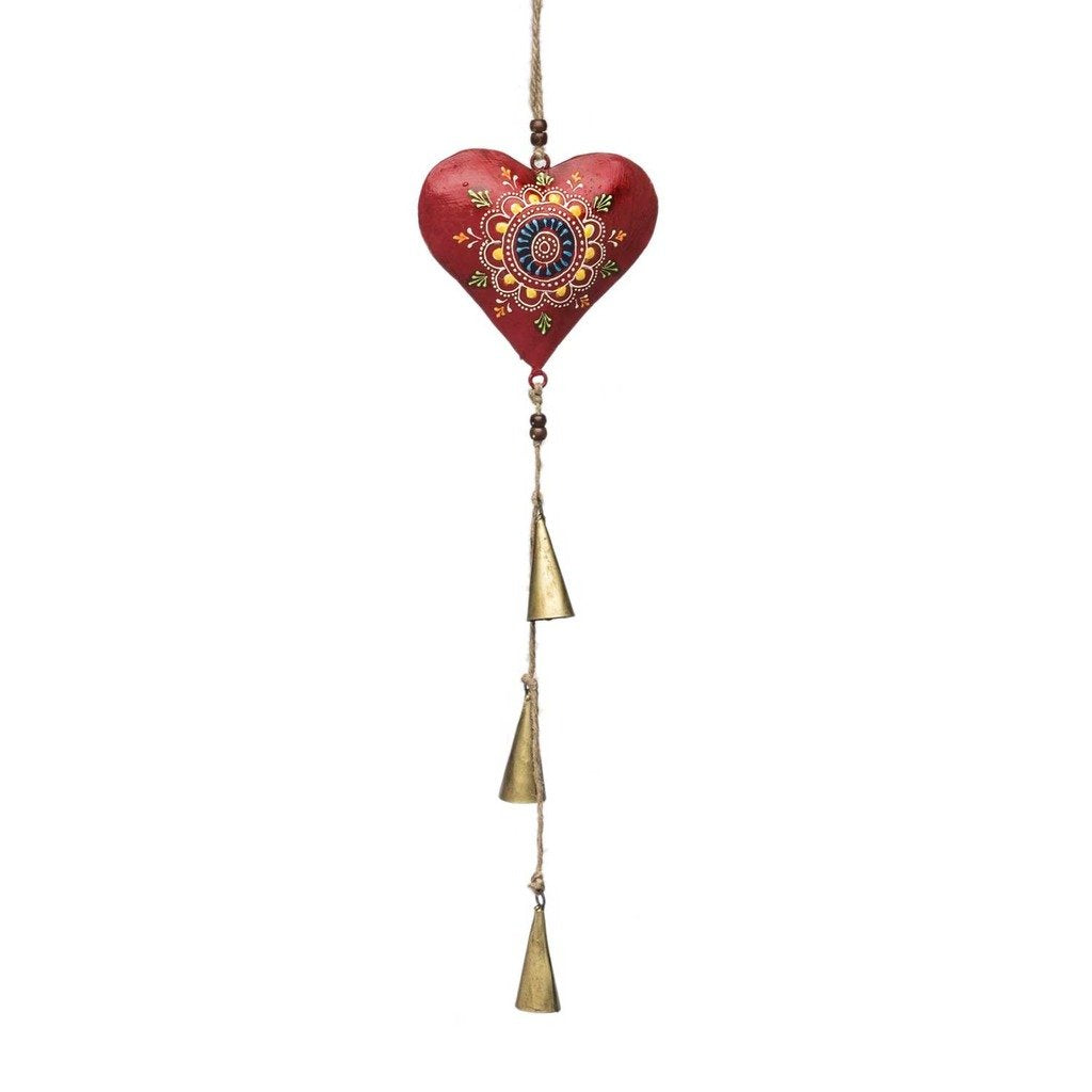 Global Crafts - Henna Treasure Bell Chime - Heart - Matr Boomie (Bell)