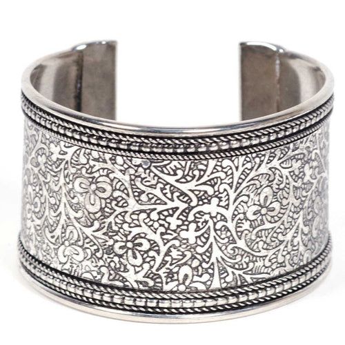 Global Crafts - Metal Impression Cuff Bracelet - Matr Boomie (Jewelry)