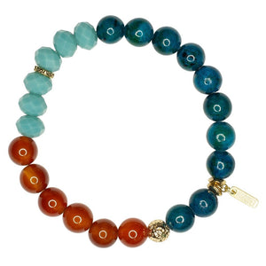 Global Crafts - Roll-on Bracelet: Molly Volcanic Island - Marquet (J)