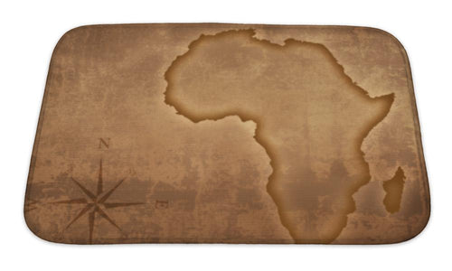 Bath Mat, Old Style Africa Map