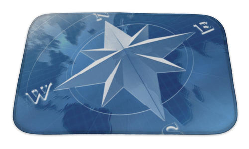 Bath Mat, Compass Rose