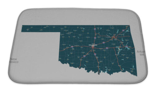 Bath Mat, Map Of State Oklahoma USA