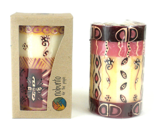 Global Crafts - Hand Painted Candle - Single in Box - Halisi Design - Nobunto