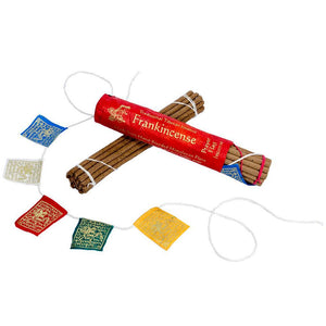 Global Crafts - Prayer Flag and Incense Roll - Frankincense - DZI (Meditation)