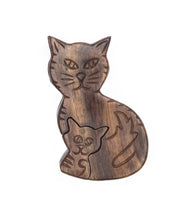 Load image into Gallery viewer, Global Crafts - Mama Cat Puzzle Box - Matr Boomie