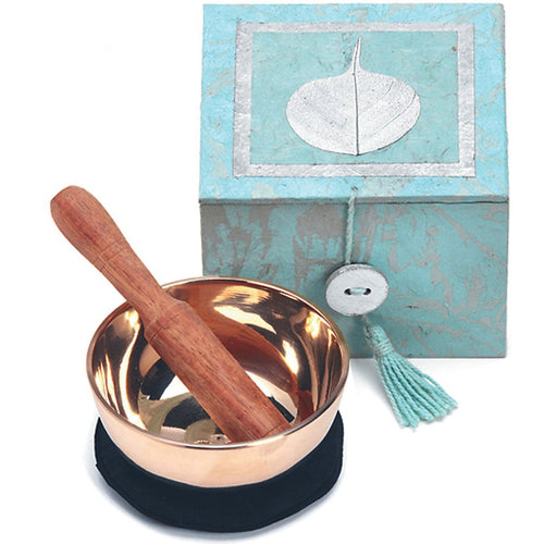 Global Crafts - Meditation Bowl Box: 3'' Swirling Bodhi - DZI (Meditation)