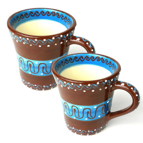 Global Crafts - Set of Two Flared Cups - Chocolate - encantada