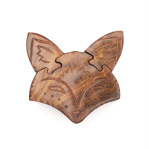 Global Crafts - Fox Puzzle Box - Matr Boomie (B)