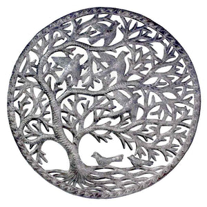 Global Crafts - Stormy Tree of Life Wall Art - Croix des Bouquets