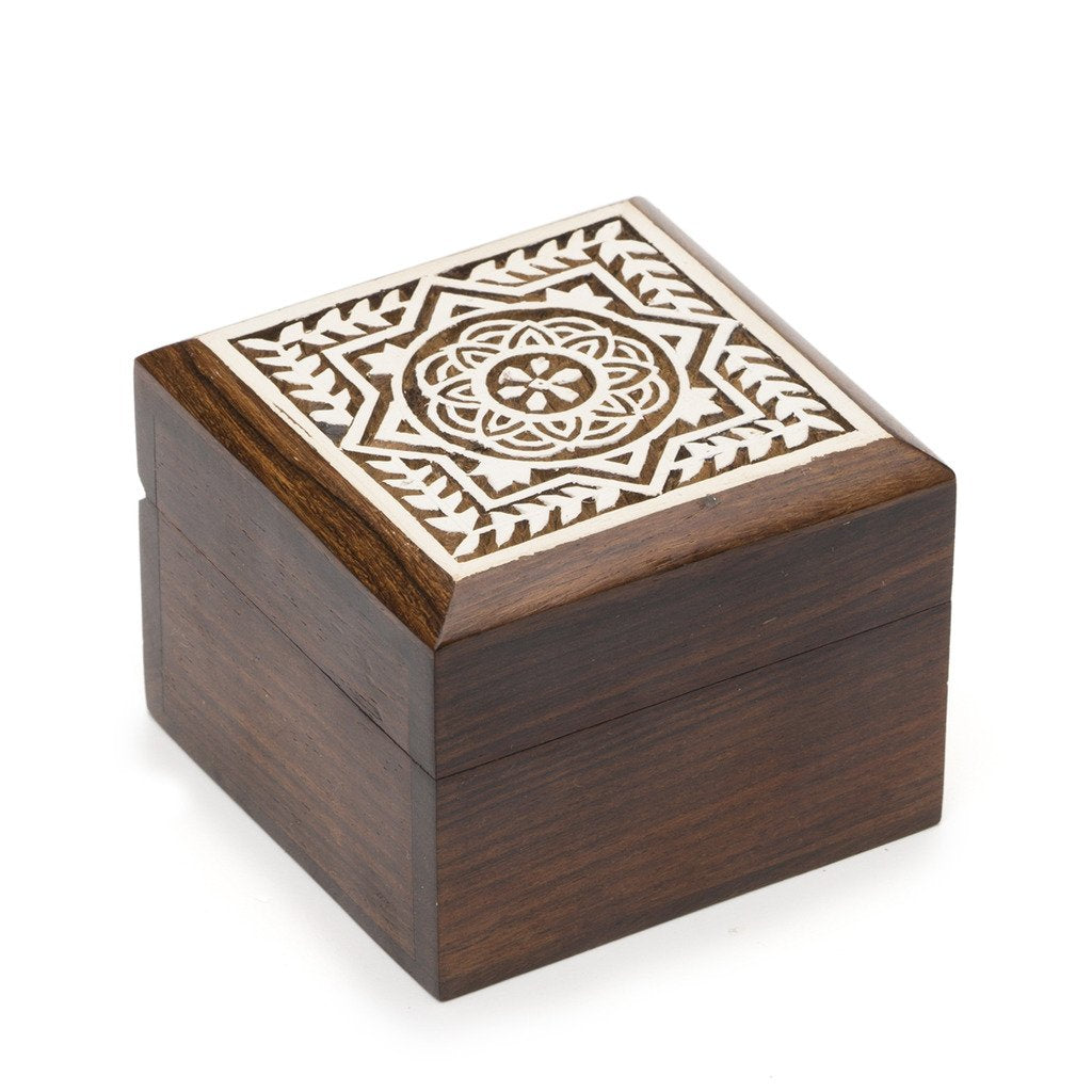 Global Crafts - Aashiyana Wood Box - Blossom - Matr Boomie (B)