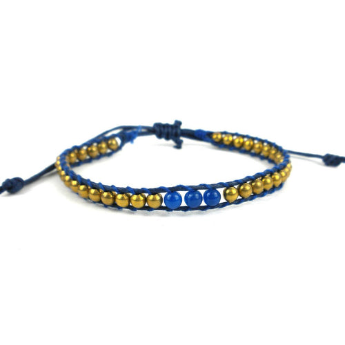 Global Crafts - 6th Chakra Bracelet - Indigo - Global Groove (J)