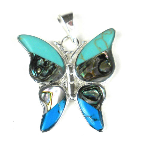 Global Crafts - Turquoise Butterfly Pendant - Artisana