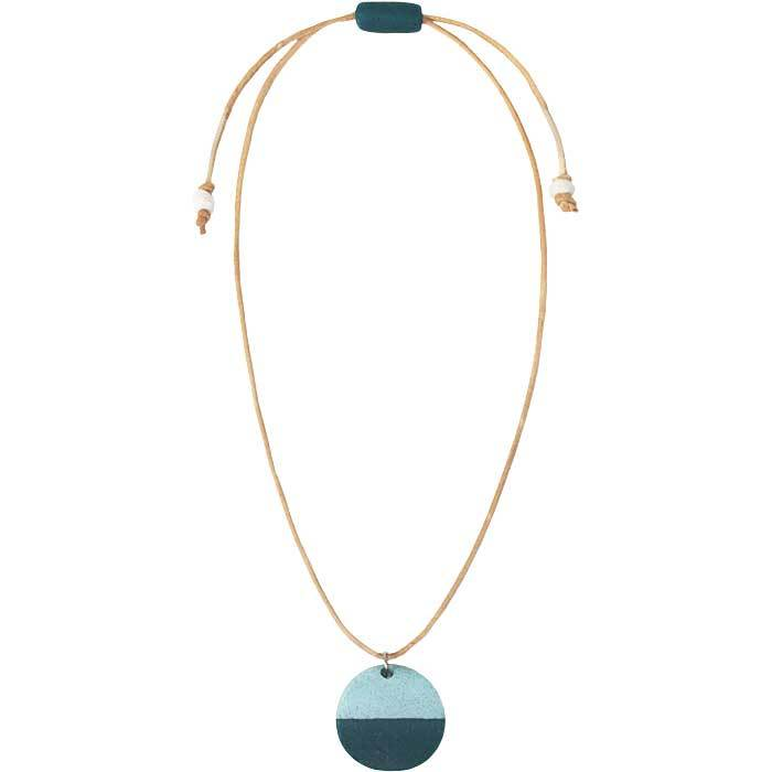 Global Crafts - Sahel Necklace Teal - Global Mamas (Jewelry)