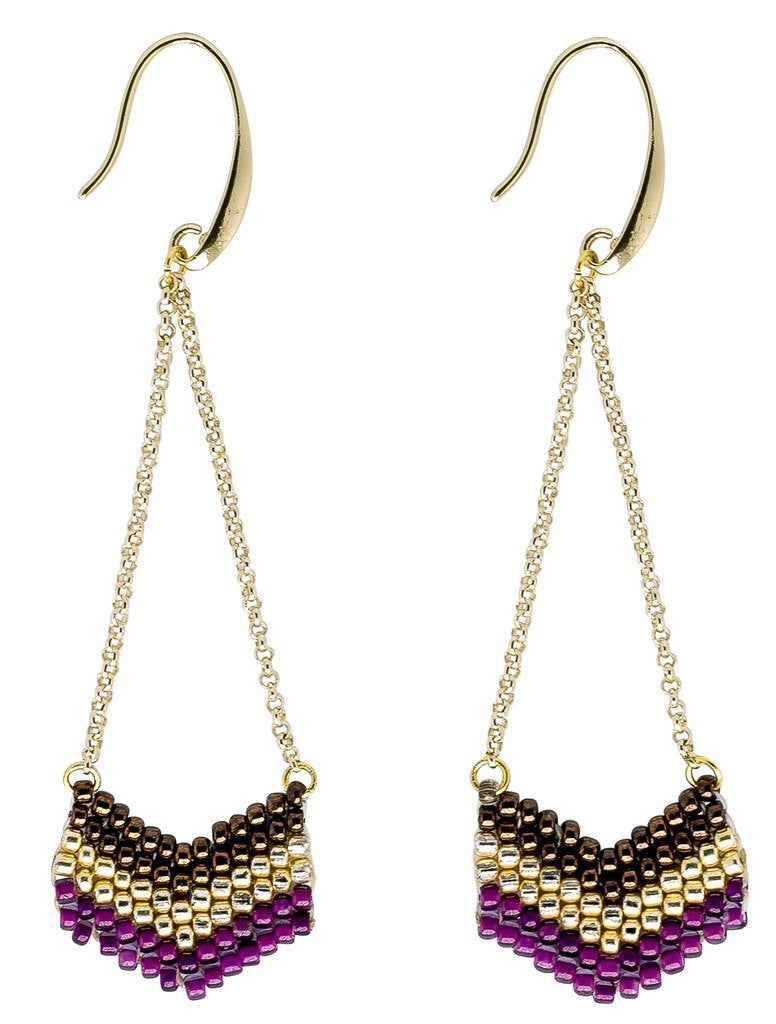 Global Crafts - Earrings: Eve Viola - Marquet (J)