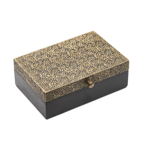 Global Crafts - Golden Treasure Box - Large - Matr Boomie (B)