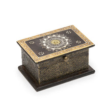 Load image into Gallery viewer, Global Crafts - Antiqued Metal Henna Box - Matr Boomie (B)