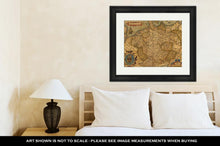 Load image into Gallery viewer, Framed Print, Antique Map Of Germany