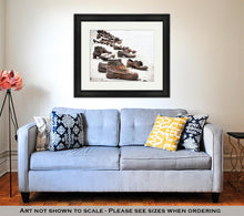 Load image into Gallery viewer, Framed Print, Shoes The Danube Bank Memorial Budapest Hungary Place Reverence Cultural