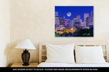 Load image into Gallery viewer, Gallery Wrapped Canvas, Denver Colorado At Night