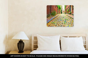 Metal Panel Print, Historic Acorn Street At Beacon Hill Neighborhood Boston Us