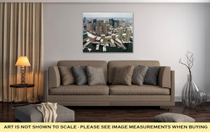 Gallery Wrapped Canvas, Boston Skyline From Air