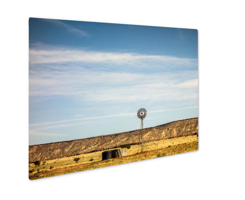 Metal Panel Print, Traveling Through New Mexico State Near Albuquerque