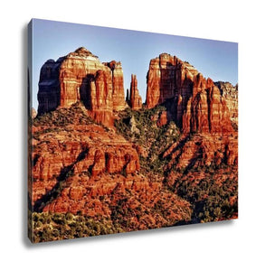 Gallery Wrapped Canvas, Messunset On Cathedral Rock Near Sedonarizon