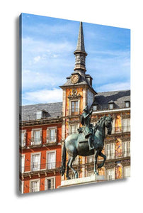 Gallery Wrapped Canvas, Statue Of Philip Iii At Mayor Plaza In Madrid