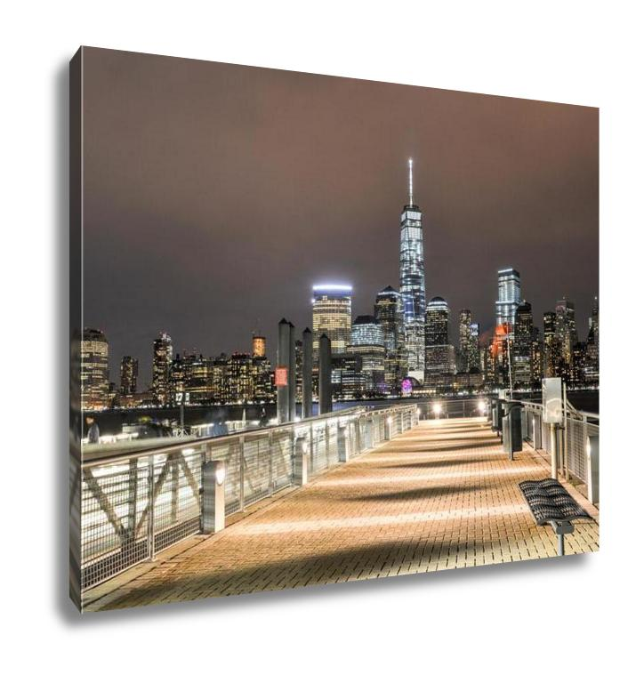 Gallery Wrapped Canvas, Freedom Tower New York City Skyline From New Jersey