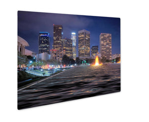 Metal Panel Print, Downtown Los Angeles Skyline