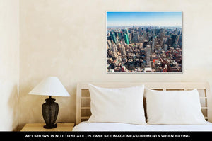 Gallery Wrapped Canvas, Beautiful New York City Skyline With Urban Skyscrapers Early In The Morning