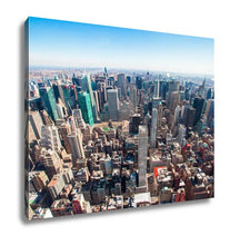 Load image into Gallery viewer, Gallery Wrapped Canvas, Beautiful New York City Skyline With Urban Skyscrapers Early In The Morning