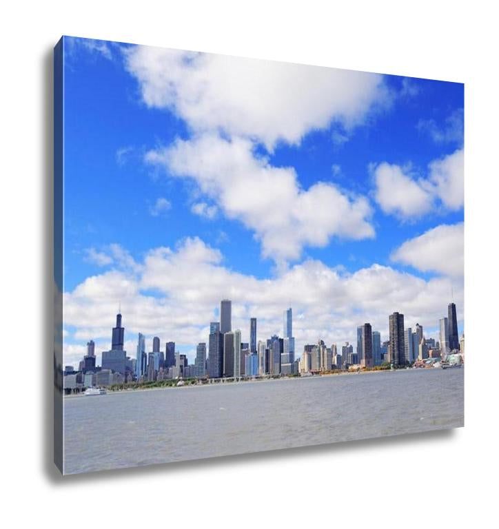 Gallery Wrapped Canvas, Chicago City Urban Skyline