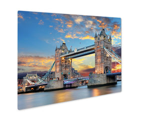 Metal Panel Print, Tower Bridge In London UK