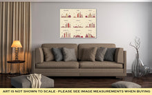 Load image into Gallery viewer, Gallery Wrapped Canvas, Dubai Arabian Peninsulskylines Line Art Style