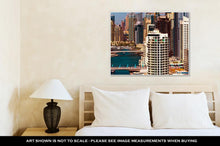 Load image into Gallery viewer, Gallery Wrapped Canvas, Amazing Colorful Dubai Marinskyline Water Canal Expensive Yachts