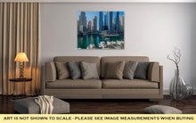 Load image into Gallery viewer, Gallery Wrapped Canvas, Dubai Marina At Night In United Arab Emirates