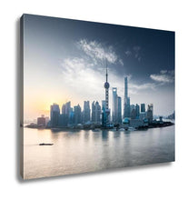 Load image into Gallery viewer, Gallery Wrapped Canvas, Sunrise Scene In Shanghai