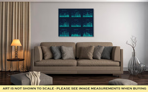 Gallery Wrapped Canvas, Arabian Peninsula Skylines Line Art Style