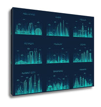 Load image into Gallery viewer, Gallery Wrapped Canvas, Arabian Peninsula Skylines Line Art Style
